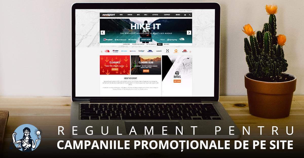 Când este nevoie de regulament pentru campaniile promoţionale de pe site?